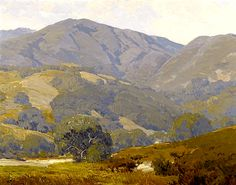 Hanson Puthuff | Hanson Puthuff (1875 – 1972) . Green California Hills Under Cloudy ...