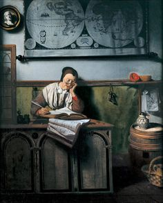 The Account Keeper..Nicholas Maes 1656