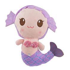 Purple Mermaid Plush Doll Plush Dolls, Hello Kitty, Mermaid, Purple, Fictional Characters, Art, Craft Art, Stuffed Toys, Stuffed Dolls