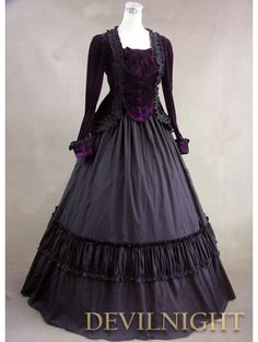 >> Click to Buy << Purple Velvet Long Sleeves Gothic Victorian Ball Gowns Prom Dresses #Affiliate