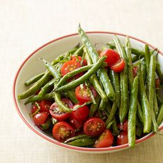 Weight Watchers Roasted Green Beans and Fresh Tomatoes - Sometimes simple is best. Just a few seasonings accentuate the natural flavors of sweet tomatoes and roasted green beans. 0 SmartPoints