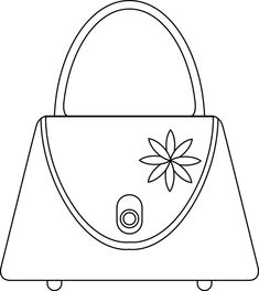 coloring pages of purses - photo#12