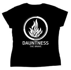 Camiseta chica Divergente. Dauntness The Brave (Osadía) Camiseta para chica con la imagen del logo de la facción de Dauntness (Osadía) una de las facciones a la que pertenece la protagonista de la saga literaria Divergente.