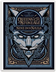 Nine Inch Nails & Queens of the Stone Age Hydro74 Christchurch Poster World Premiere Exclusive