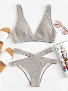 To find out about the Crisscross Solid Bikini Set at SHEIN, part of our latest Bikinis ready to shop online today! Summer Bathing Suits, Cute Bathing Suits, Cute Swimsuits, Cute Bikinis, Looks Adidas, Mode Du Bikini, Bikini Ready, Bikini Outfits, Beachwear For Women