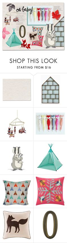 """""""i'm a honey badger from way back"""" by meadowbat ❤ liked on Polyvore featuring interior, interiors, interior design, home, home decor, interior decorating, ferm LIVING, Anne-Claire Petit, Loom and Mill and Madison Park"""
