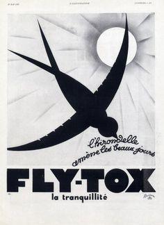 Fly-Tox 1930  L'Hirondelle Albert Pouprou