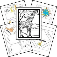 FREE Giraffe Zoobook Lapbook Printables; matches The Giraffe That Walked to Paris