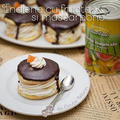 Din bucătăria mea: Indiene cu fructe si mascarpone Gingerbread, Dessert Recipes, Food And Drink, Tropical, Sweets, Breakfast, Cakes, Bakeries, Recipes