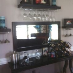 Homemade Bar In Our Dining Room