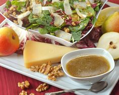 Winter Green Salad with Pears and Apple Cider Vinaigrette   Domino Sugar Winter Green Salad with Pears and Apple Cider Vinaigrette   Domino Sugar