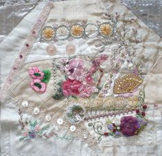I ❤ crazy quilting & embroidery . . . FFT #7 CQI round robin, finished block. ~By dianesm