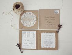 diy rustic wedding invites | Rustic DIY wedding invitation | The real deal