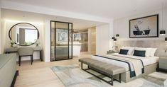 Open Plan Schlafzimmer Und Badezimmer Designs
