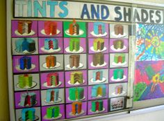 Fine Lines: 5th Grade tints and shades modeled after artist: Wayne Thiebaud