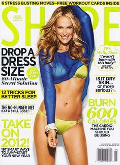 Molly Sims - Shape Magazine Cover [United States] (January 2012)