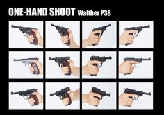 POST - Hand with a gun