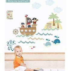 Pirates Fabric Wall Stickers