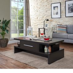 Furniture of America Tepekiie Two-side Open Coffee Table | Overstock.com Shopping - The Best Deals on Coffee, Sofa & End Tables