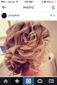 Curly updo simple