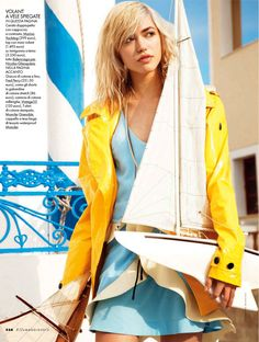 sailor made: cora keegan by carlotta manaigo for elle italia may 2013 | visual optimism; fashion editorials, shows, campaigns & more!