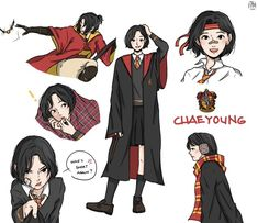 """""""Son Chaeyoung - Gryffindor 🦁 - adventurous baby 😚 brings out the best in others ❤ [ x HOGWARTS ]"""" Harry Potter Fan Art, Harry Potter Uniform, Estilo Harry Potter, Hogwarts Uniform, Images Harry Potter, Harry Potter Drawings, Harry Potter Anime, Harry Potter Movies, Harry Potter Hogwarts"""