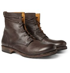{ Billy Reid Full Grain Leather Boots }