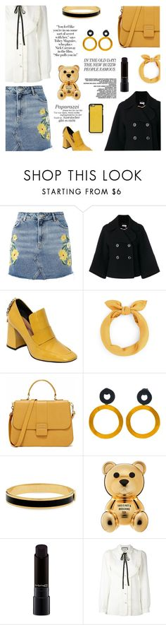 """""""freak with me"""" by sugaplump ❤ liked on Polyvore featuring Topshop, Chloé, Coliàc Martina Grasselli, Be-Jewelled, Halcyon Days, MAC Cosmetics, Gucci and Vianel"""
