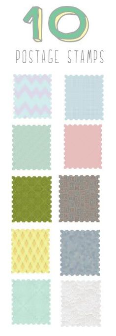 free clipart photoshop postage stamps vintage colors