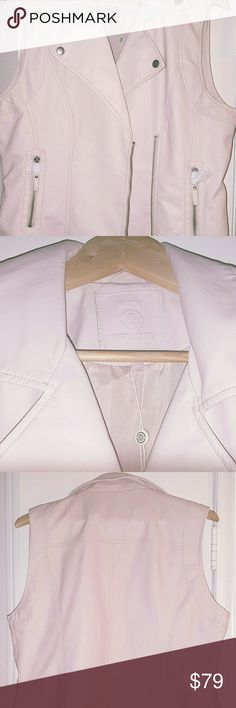 NWT Max Studio Faux Leather Soft Pink Vest Trending Spring Color Pastel Pink Faux Leather Vest Max Studio Jackets & Coats Vests
