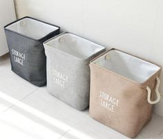 Large Laundry Hamper Bag Canvas Clothes Storage Baskets – I sell what I love Storage Buckets, Large Storage Baskets, Kid Toy Storage, Nursery Storage, Laundry Room Storage, Diy Storage, Basket Storage, Clothes Storage, Storage Ideas
