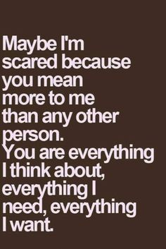 You've made me feel something I haven't felt in a long time....