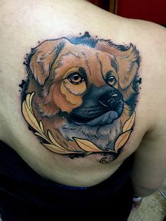 Dog neotraditional tattoo by Juan david Castro R Dog Tattoos, Cute Tattoos, Hand Tattoos, Amazing Tattoos, Tattoo Perro, Bulldogge Tattoo, Dogs Funny Husky, Dog Portrait Tattoo, Dog Wallpaper