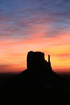 Landscape Photograph - Monument Valley 35 - West Mitten Sunrise # 3 by Allen…