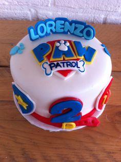 "A small ""paw patrol"" cake"