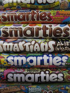 Smartie tubes by Olivia Wharton, via Flickr
