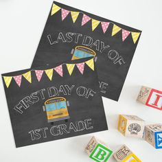 STUDIO CT ALSO OFFERS PRESCHOOL to 6th PRINTS  Don't forget to capture your child's first and last day of school! These chalkboard printables are the perfect touch. Not only are they affordable, but they can be easily printed at home.  These prints are also great for teachers to use to photograph their students on their first day, giving parents an awesome keepsake!