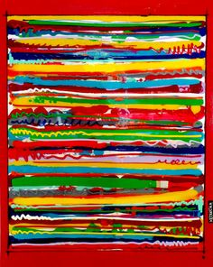Une nouvelle toile ! #Code Barre : Technique mixte sur toile et plexiglas #ColorfieldGal #DavidFerreira