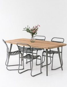 Large Industrial Café Table with chairs