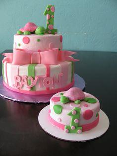 First birthday turtle cake