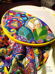 ♒ Enchanting Embroidery ♒ embroidered geometry | Balzer Designs  Reminds me of zentangles.