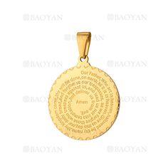 dije con letras de dorado en acero para mujer- SSPTG321513