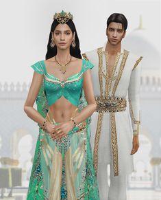 Princess Aprons, Disney Princess Dresses, Cinderella Princess, Maxis, Orientation Outfit, Sims 4 Tattoos, Sims 4 Cas Mods, Aladdin Costume, Sims4 Clothes