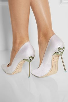 Sophia Webster | Coco glitter-finished twill pumps | NET-A-PORTER.COM