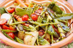 tomato asparagus salad..very healthy