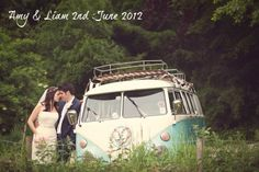 I love everything about this wedding! It has a VW bus! Instant win!