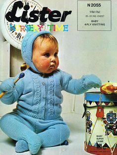 Lister 2055 pram suit  baby  vintage knitting by Ellisadine, £1.00