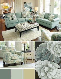Turquoise Room Ideas - Well, how regarding a touch of turquoise in your room? Establish your heart to see it due to the fact that this post will give you turquoise room ideas. Coastal Living Rooms, New Living Room, My New Room, Living Room Decor, Small Living, Living Area, Modern Living, Wayfair Living Room Furniture, Living Room Sets