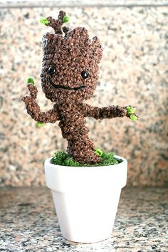 Free Crochet Pattern: Potted Baby Groot from Guardians of the Galaxy   Twinkie Chan Blog