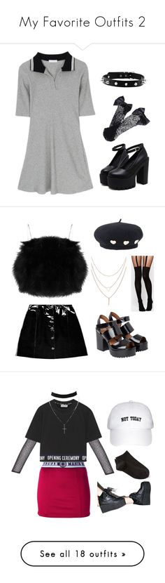 """""""My Favorite Outfits 2"""" by telletubbies ❤ liked on Polyvore featuring Moschino, Veil London, Monki, ASOS, Nasir Mazhar, Wolford, PA5H, Opening Ceremony, Charlotte Russe and Ray-Ban"""